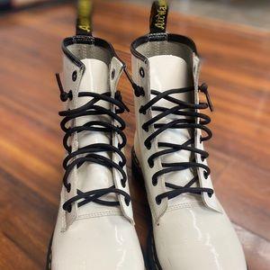 White Dr. Martens Boot